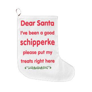 good schipperke large christmas stocking