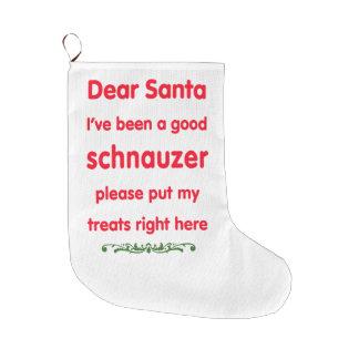 good schnauzer large christmas stocking