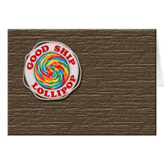 Good Ship Lollipop... Card