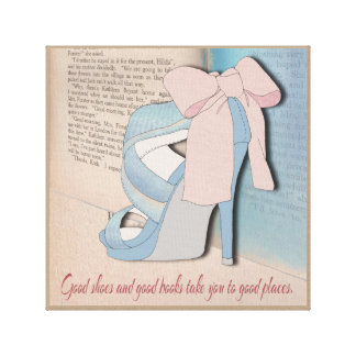Good Shoes and Good Books. Gallery Wrap Canvas