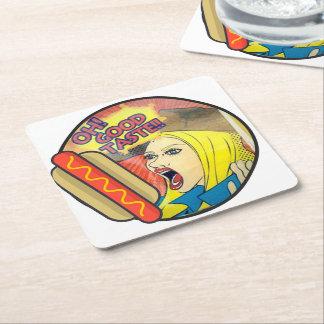 Good Taste Square Paper Coaster