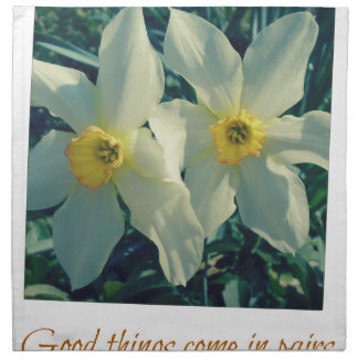good things come in pairs napkin