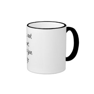 Good things come in small packages ringer mug
