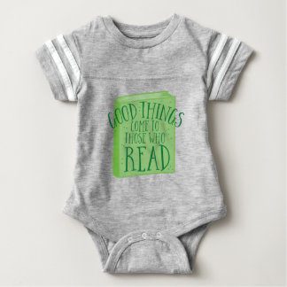 good things come to those who read baby bodysuit