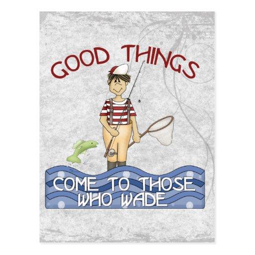 Good Things Fishing Post Card