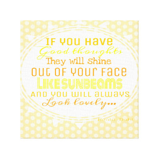 Good thoughts sunbeams canvas canvas prints
