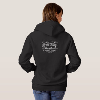 Good Time Charlies Ladies Dark Hoodie F/B Logo