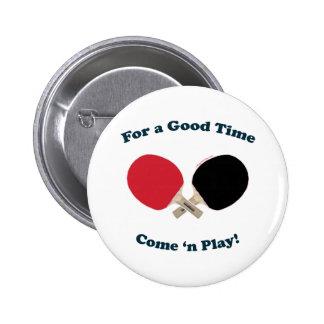 Good Time Ping Pong 6 Cm Round Badge