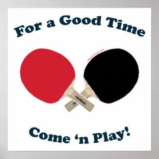 Good Time Ping Pong Poster