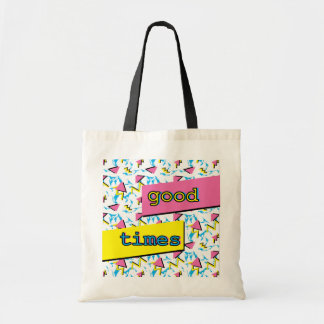 Good Times Memphis Retro Pattern Tote
