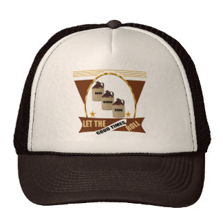 Good Times Roll Beer T-shirts and Gifts Mesh Hats