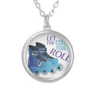 Good Times Roll Silver Plated Necklace