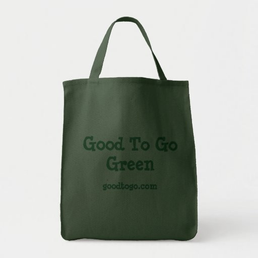 Good To Go Green Tote Bag