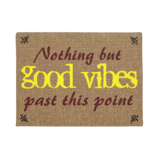 Good Vibe Positive Message Doormat