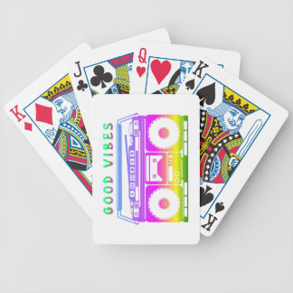 Good Vibes 80's Style Bicycle Playing Cards
