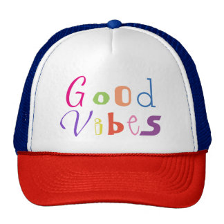 Good Vibes Colorful Cute Font Trucker's Hat