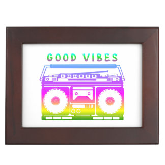 Good Vibes Colorful Stereo Stencil Keepsake Box
