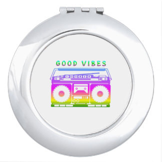 Good Vibes Colorful Stereo Stencil Vanity Mirrors