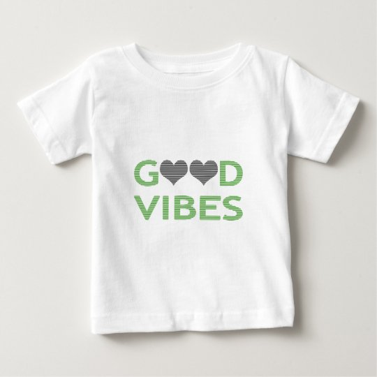 Good vibes - heart - black and green. baby T-Shirt