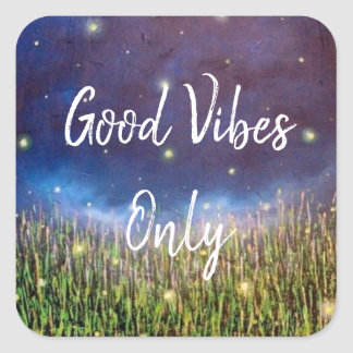 Good Vibes Only Firefly Sticker