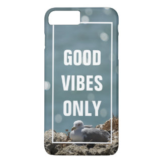 Good Vibes Only | Funny Stress Free Quote Beach iPhone 8 Plus/7 Plus Case