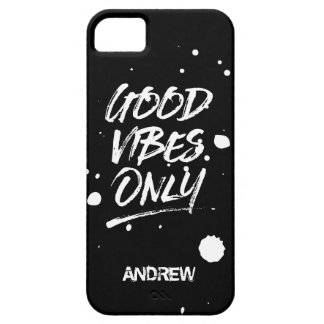 Good Vibes Only Inspirational Quotes Script iPhone 5 Cases