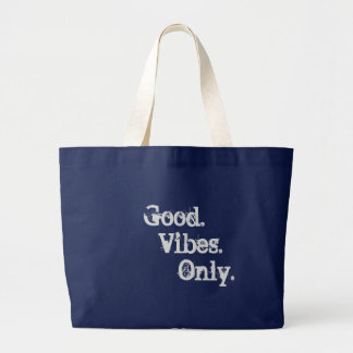 Good Vibes Only Navy blue tote bag