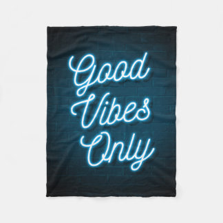 Good Vibes Only - Neon Fleece Blanket