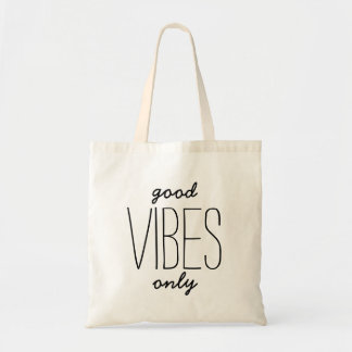 Good Vibes Only Positivity Typography Tote Bag