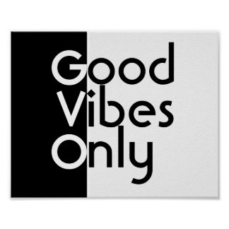 good vibes only poster trendy hipster decor