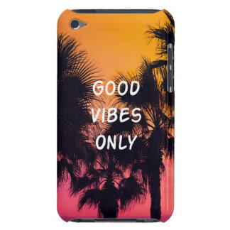 """""""Good Vibes Only""""  Tropical Beach Palms Sunset Barely There iPod Case"""