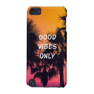"""Good Vibes Only""  Tropical Beach Palms Sunset iPod Touch 5G Cover"