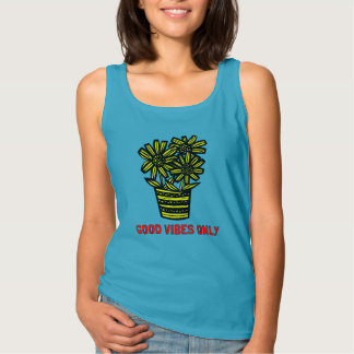"""""""Good Vibes Only"""" Women's Basic Tank Top"""