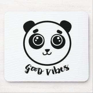 Good Vibes Panda Mouse Pad