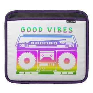 Good Vibes Retro Stereo iPad Sleeve
