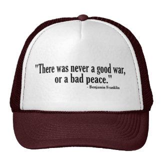 Good War Bad Peace Hat
