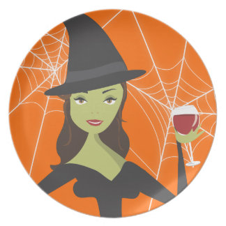 Good Witch, Bad Witch Halloween Treat Plate