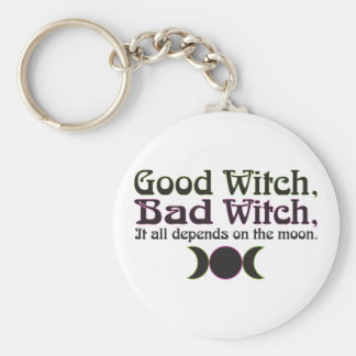 """Good Witch, Bad Witch..."" Keychain"