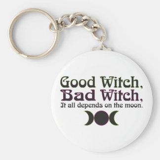 """""""Good Witch, Bad Witch..."""" Keychain"""