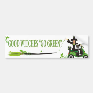 Good Witches Go Green Bumper Sticker