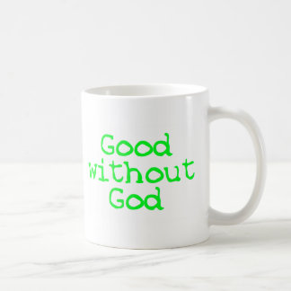Good without God bright green Coffee Mug