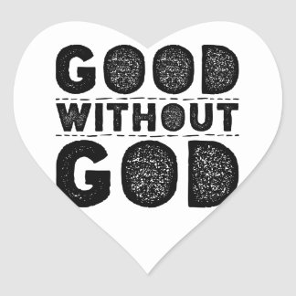 Good Without God Heart Sticker