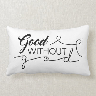 Good Without God Lumbar Pillow