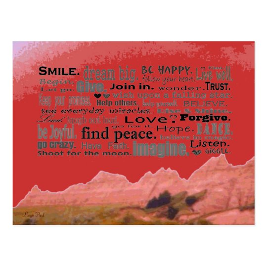 good words art postcard