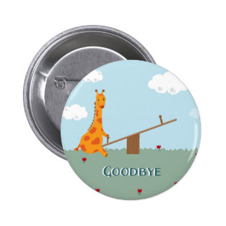 Goodbye 6 Cm Round Badge
