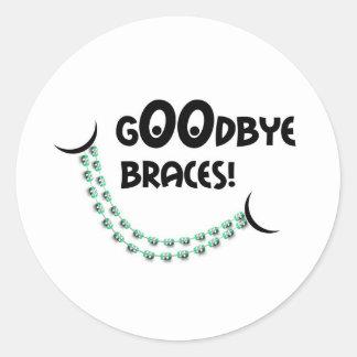 Goodbye Braces Orthodontist Patient Gift Classic Round Sticker