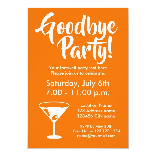 goodbye farewell going away party invitations zazzle com au