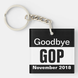 Goodbye GOP Single-Sided Square Acrylic Key Ring
