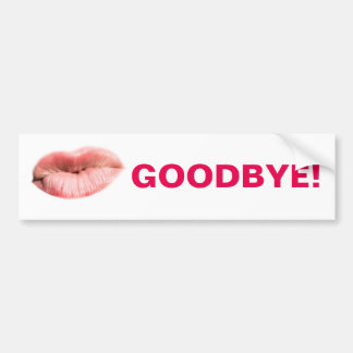 Goodbye kiss customizable bumper sticker