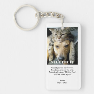 Goodbyes Pet Memorial Keychain